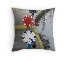 Fish 'n Chips Throw Pillow