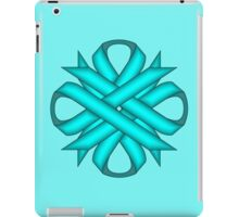 Light Blue / Teal Clover Ribbon iPad Case/Skin