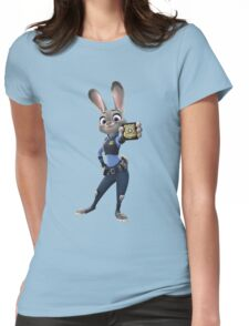 """Zootopia - Judy Hopps """"I m a police officer!"""" Womens Fitted T-Shirt"""
