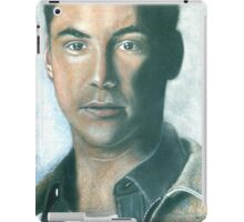 """hand drawing with pastels """"K.Reeves"""" iPad Case/Skin"""