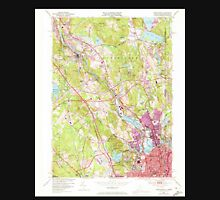 USGS TOPO Map Rhode Island RI Pawtucket 353334 1949 24000 Unisex T-Shirt