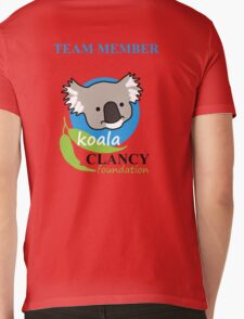Koala Clancy Foundation Team Member - blue text T-Shirt