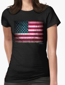 USA Womens Fitted T-Shirt