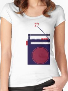 Funky Little Radio Women's Fitted Scoop T-Shirt