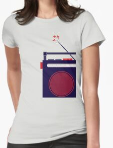 Funky Little Radio Womens Fitted T-Shirt