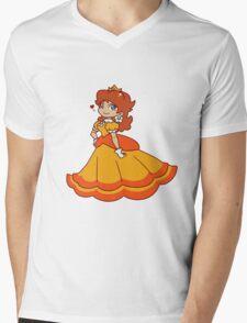 Princess Daisy Mens V-Neck T-Shirt