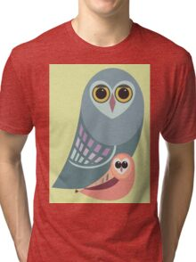 BIG OWL & ITTY BITTY OWL Tri-blend T-Shirt