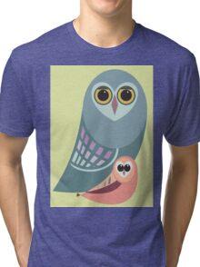 BIG OWL & ITTY BITTY OWL Tri-blend T-Shirt