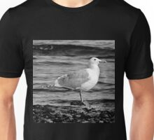 BW Side View Seagull Unisex T-Shirt