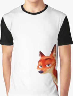 Zootopia - Nick Wilde (smiling face) Graphic T-Shirt