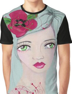 Floral girl Graphic T-Shirt