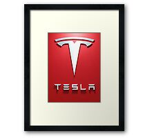 Tesla Red 1 Framed Print