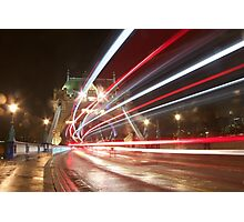 Tower Bridge by Night Photographic Print