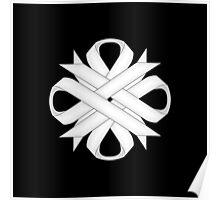 White Clover Ribbon Poster