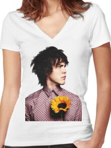 Andrew VanWyngarden Flower Women's Fitted V-Neck T-Shirt