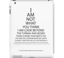 Sikh Eye Chart iPad Case/Skin