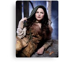 Snow Poster - Once Upon a Time Canvas Print