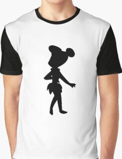 Cartoon silhouettes - Flintstone - Transparent background Graphic T-Shirt