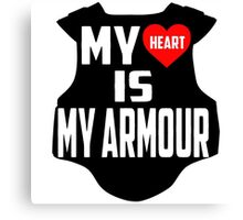 Twenty One Pilots Quote - My Heart Is My Armour Canvas Print