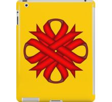 Red Clover Ribbon iPad Case/Skin