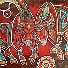 Two Bulls  by Lynnette Shelley