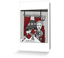 Agatha ChrisTea Greeting Card