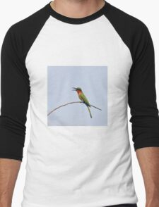 Red-throated Bee-eater with bill open Men's Baseball ¾ T-Shirt