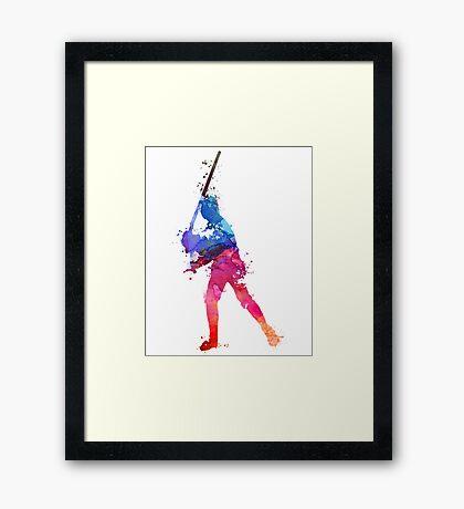 LUKE SKYWALKER STAR WARS WATERCOLOR Framed Print