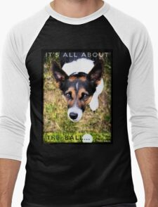 Terrier Obsession: It's All About The Ball Men's Baseball ¾ T-Shirt