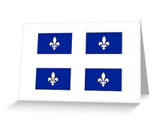 Quebec Flag Drapeau - Canadian Province T-Shirt Sticker Duvet Cover Greeting Card