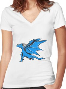 Dragon Wing cool Women's Fitted V-Neck T-Shirt