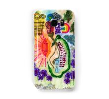 Magic Forest Snake with Pink Crystal Samsung Galaxy Case/Skin