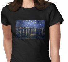 'Starry Night Over The Rhone' by Vincent Van Gogh (Reproduction) Womens Fitted T-Shirt