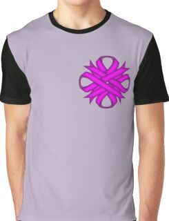 Purple Clover Ribbon Graphic T-Shirt