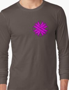 Purple Clover Ribbon Long Sleeve T-Shirt