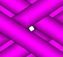 Purple Clover Ribbon Sticker