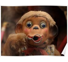Dusty Old Monkey Doll Poster