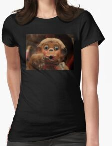 Dusty Old Monkey Doll Womens Fitted T-Shirt