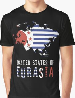 Map of Eurasia (The United States of) Graphic T-Shirt