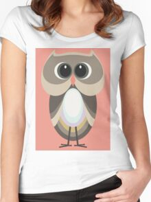 OWLISH OWL Women's Fitted Scoop T-Shirt