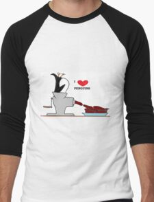 i love penguins Men's Baseball ¾ T-Shirt