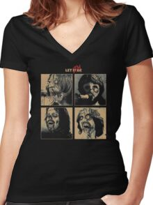 Let it (Zom)Be Women's Fitted V-Neck T-Shirt