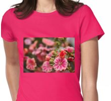 Sunset Pink Lewisia Womens Fitted T-Shirt
