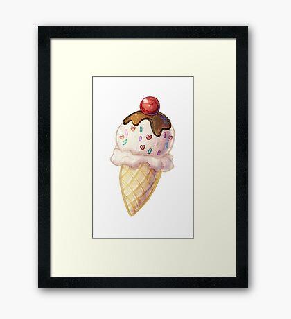 Cute Icecream Cone Framed Print