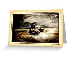 Mother and Father Canada Geese Greeting Card