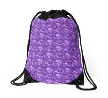 Turtle Grapes Pattern Drawstring Bag