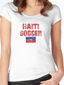 Haiti Soccer  Women's Fitted Scoop T-Shirt
