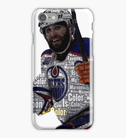 """Edmonton Oilers """"My Favorite Color is (Patrick) Maroon"""" iPhone Case/Skin"""