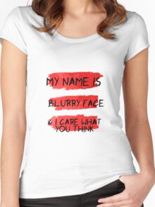 My Name is Blurry Face - Lyric Water Color Women's Fitted Scoop T-Shirt
