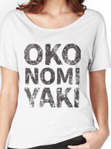 Japanese Savoury Pancake (Okonomiyaki) Japanese English - Black Women's Relaxed Fit T-Shirt